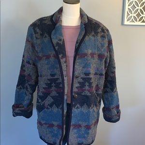 Beautiful vintage 100% merino wool coat large